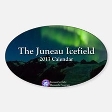 2013.A Juneau Icefield Calendar Cov Sticker (Oval)