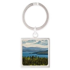2013.08 Juneau Icefield seen acros Square Keychain