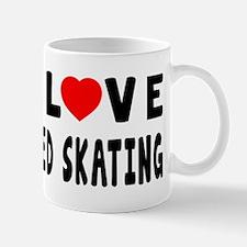 I Love Speed Skating Mug