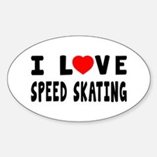 I Love Speed Skating Decal