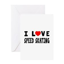 I Love Speed Skating Greeting Card