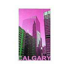calgary-photo-109-PINK-Poster 3'x5' Area Rug
