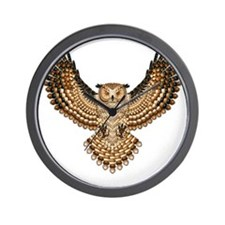 Beaded Owl Totem Wall Clock