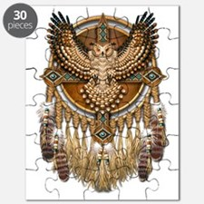 Native American Owl Mandala Puzzle