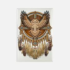 Native American Owl Mandala Rectangle Magnet