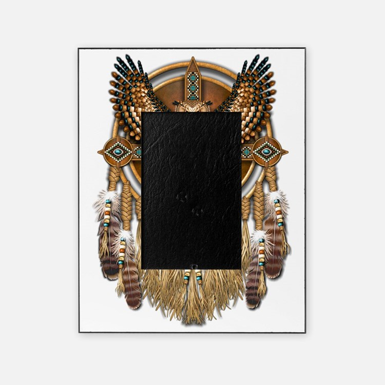 Native American Owl Mandala Picture Frame