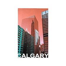 Downtown Calgary in Rust 3'x5' Area Rug