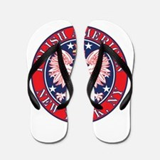 New York NY Polish Flip Flops