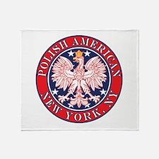New York NY Polish Throw Blanket