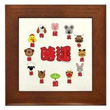 Chinese Zodiac (3) Framed Tile