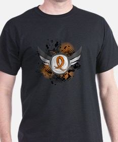 D Orange Ribbon And Wings Multiple Sc T-Shirt