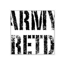 "Army retd black distressed  Square Sticker 3"" x 3"""