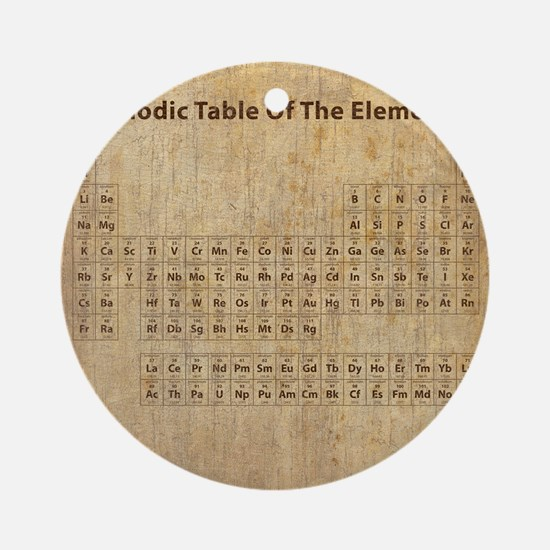 vintageperioidctable Round Ornament
