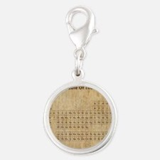 vintageperioidctable Silver Round Charm