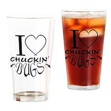 Chuckin bugs Drinking Glass