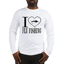 i love fly fishing Long Sleeve T-Shirt