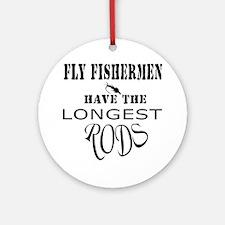 Longest rods Round Ornament