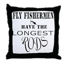 Longest rods Throw Pillow