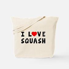 I Love Squash Tote Bag