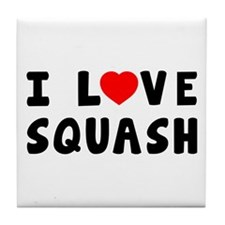I Love Squash Tile Coaster