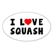I Love Squash Decal