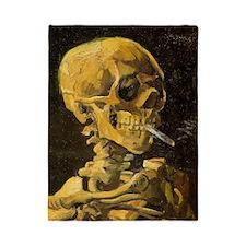 Skull with Burning Cigarette Twin Duvet