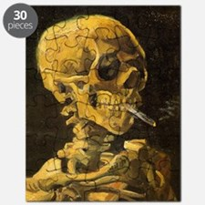 Skull with Burning Cigarette Puzzle