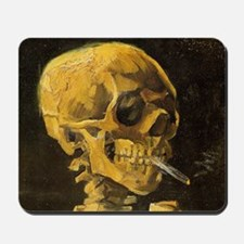 Van Gogh Skull with Burning CigaretteSC Mousepad