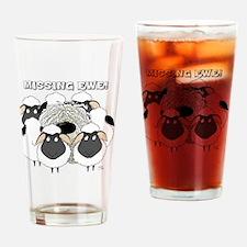 MissingEweCard3 Drinking Glass