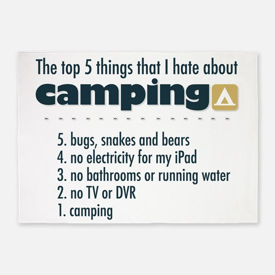 Top 5 things I hate about Camping 5'x7'Area Rug