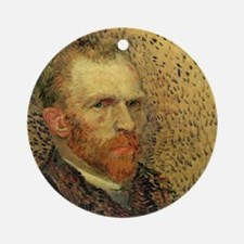 Van Gogh Self Portrait Round Ornament