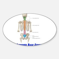 I Survived Back Surgery! Oval Decal