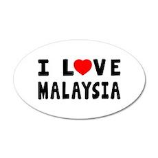 I Love Malaysia Wall Decal
