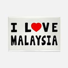 I Love Malaysia Rectangle Magnet