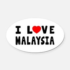 I Love Malaysia Oval Car Magnet