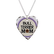 Bull Terrier Dog Mom Necklace Heart Charm