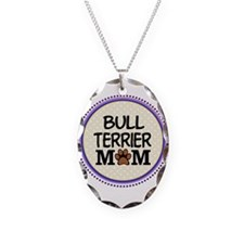Bull Terrier Dog Mom Necklace Oval Charm