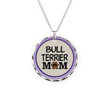 Bull Terrier Dog Mom Necklace Circle Charm