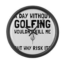 Risk It Golfing Large Wall Clock