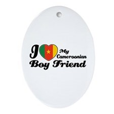 cameroonian boy friend Oval Ornament