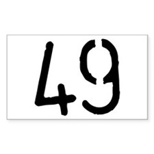 49 Rectangle Decal