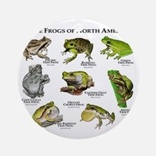 Tree Frogs of North America Round Ornament