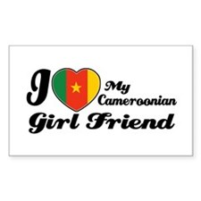 Cameroonian girl friend Rectangle Decal