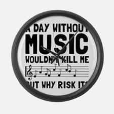 Risk It Music Large Wall Clock