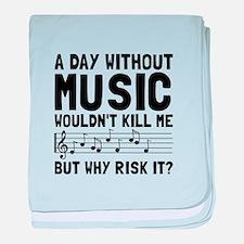 Risk It Music baby blanket
