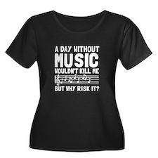 Risk It Music Plus Size T-Shirt