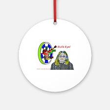 Bad Boss Bull's Eye Ornament (Round)