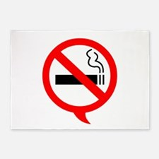 Say no to cigarettes 5'x7'Area Rug
