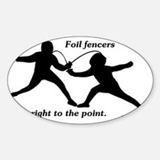Foil Point Sticker (Oval)