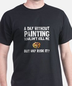 Risk It Painting T-Shirt